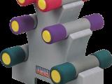 Набор неопреновых гантелей 5.44 кг. на подставке Oxygen P800-12LB